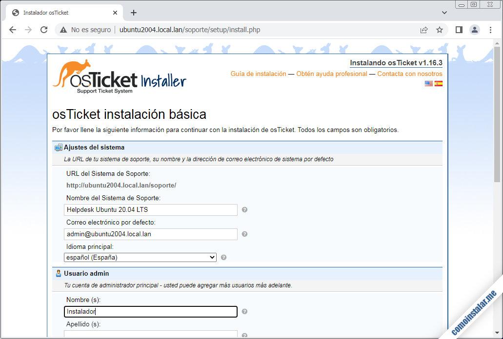 instalar osticket en ubuntu 20.04 lts