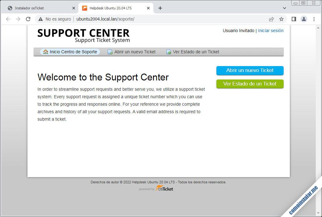 osticket en ubuntu 20.04 lts