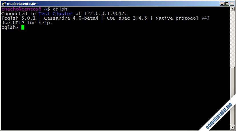 Cassandra en CentOS 8