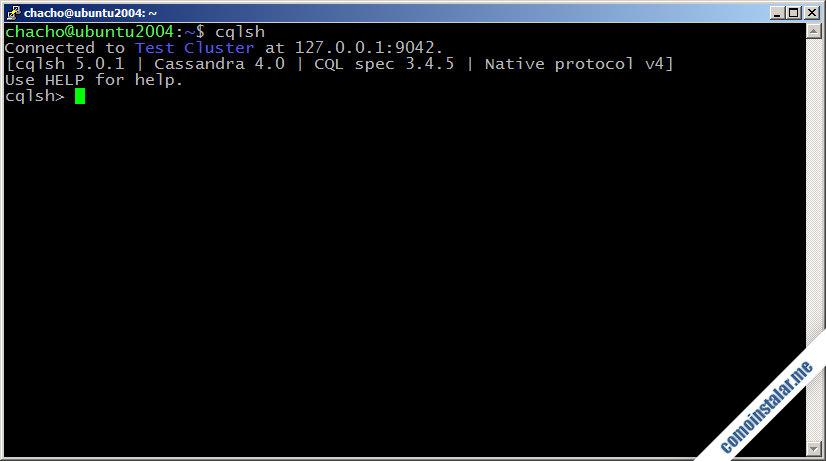 cassandra en ubuntu 20.04 lts focal fossa