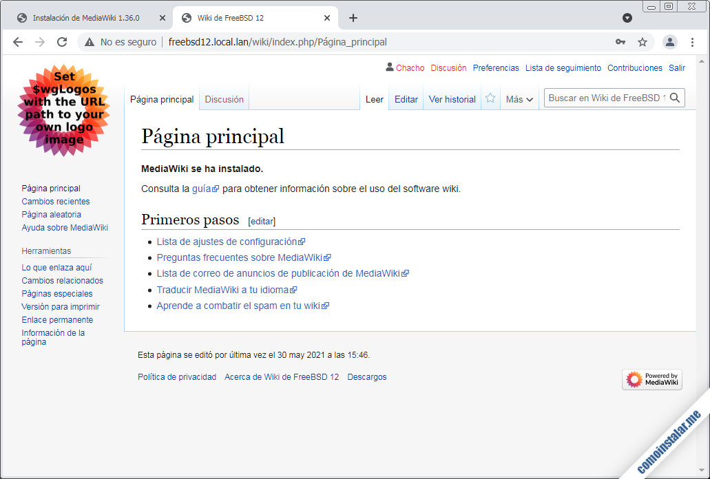 mediawiki sobre freebsd 12