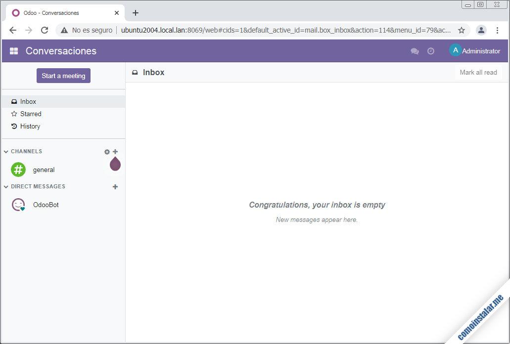 instalando odoo en ubuntu 20.04 lts