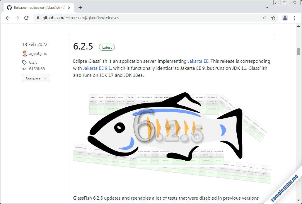 como descargar glassfish para ubuntu 20.04 lts focal fossa