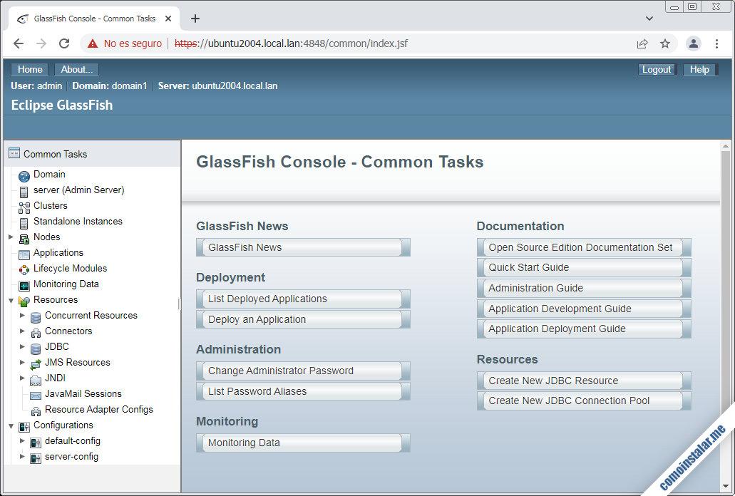 glassfish en ubuntu 20.04 lts focal fossa
