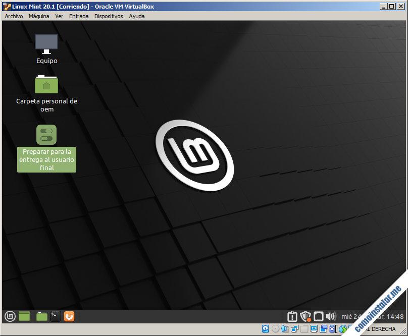 linux mint 20.1 ulyssa para virtualbox