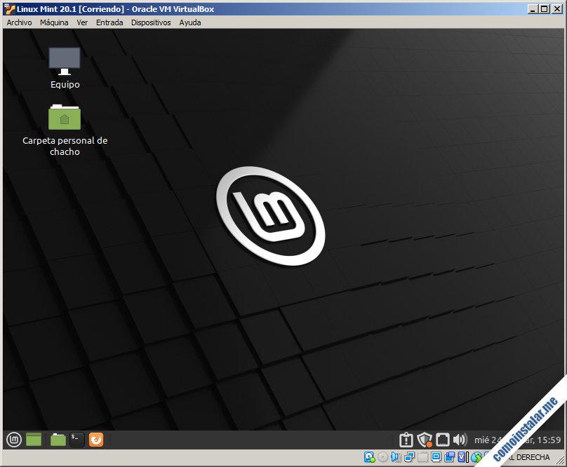 linux mint 20.1 ulyssa en virtualbox