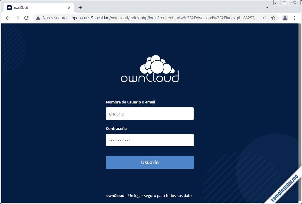 instalar owncloud en opensuse leap 15.1 y 15.2