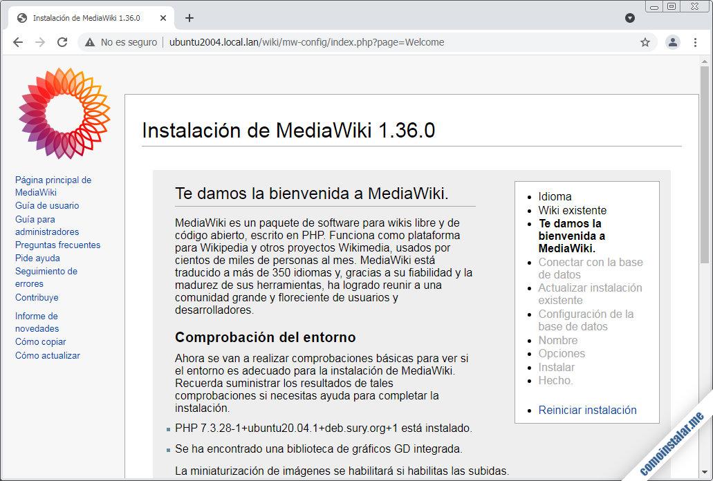 instalar mediawiki en ubuntu 20.04 lts