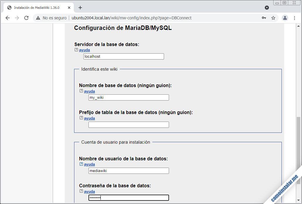 instalacion de mediawiki en ubuntu 20.04 lts