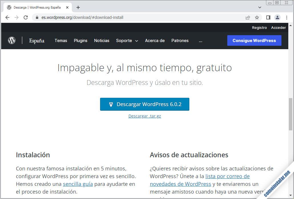 descargar wordpress para ubuntu 18.04 lts bionic beaver