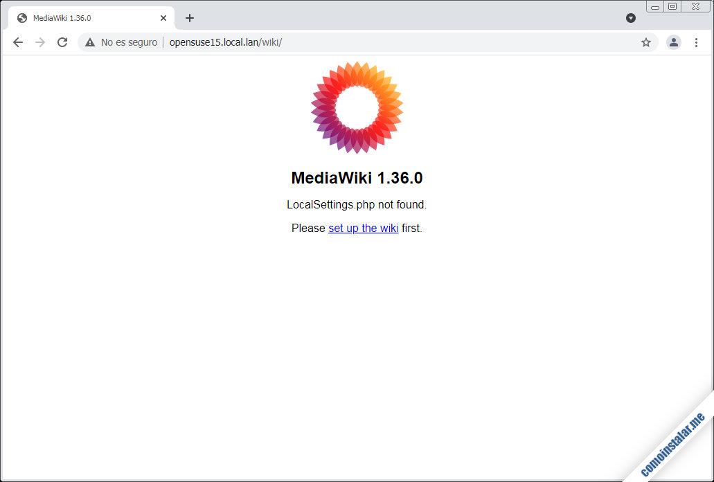 como instalar mediawiki en opensuse leap 15