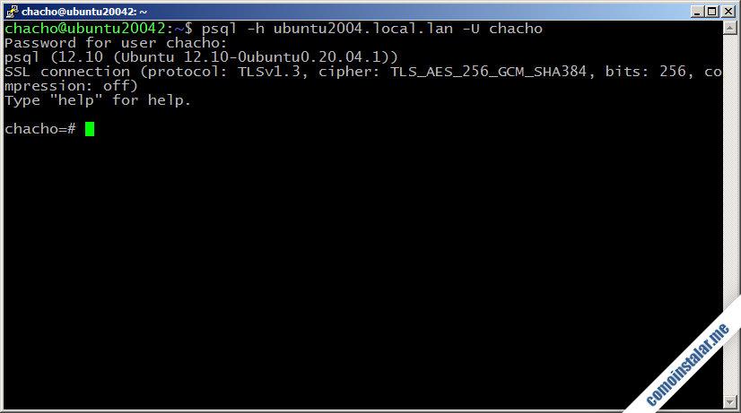 instalar y configurar postgresql en ubuntu 20.04 lts focal fossa