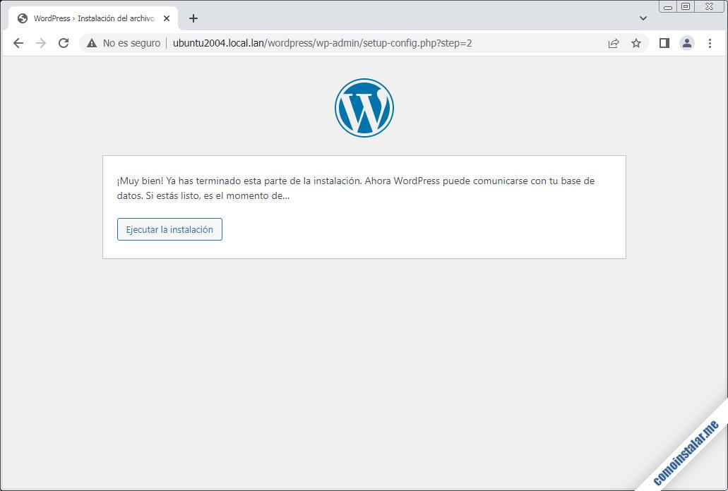 instalacion de wordpress en ubuntu 20.04 lts focal fossa