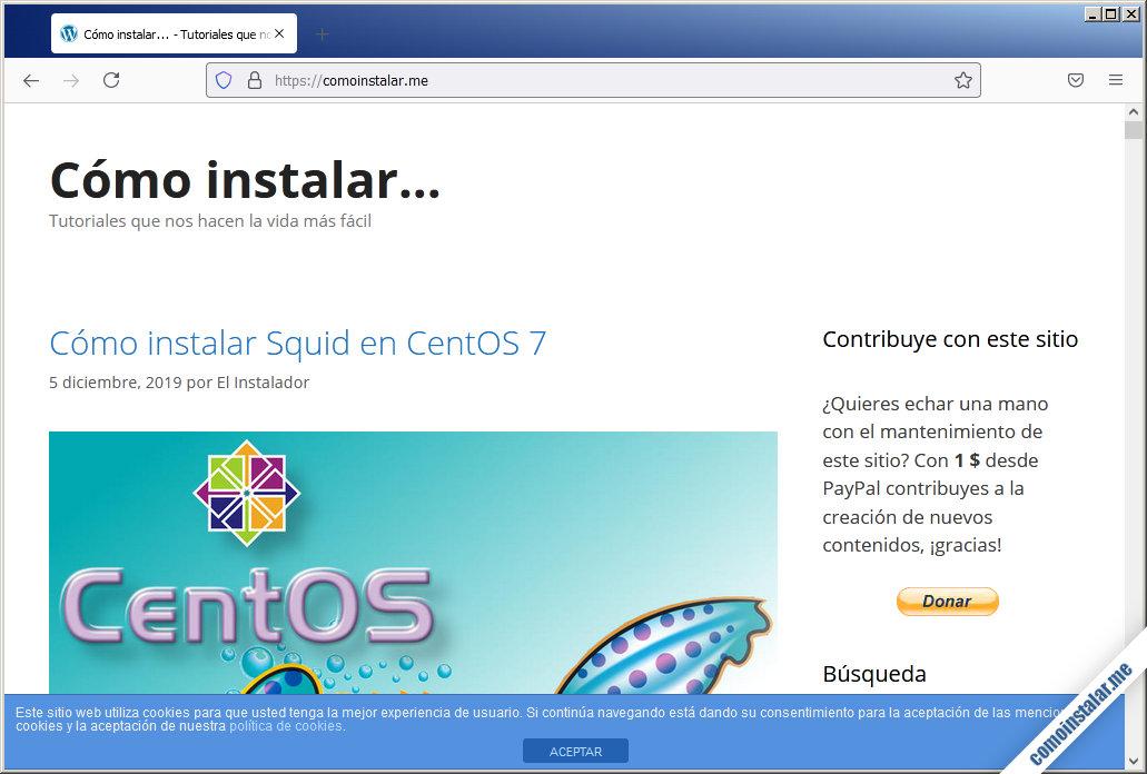 instalando squid en ubuntu 18.04 lts bionic beaver
