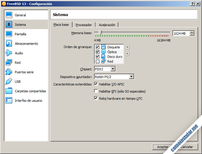 como configurar la maquina virtual de freebsd 13