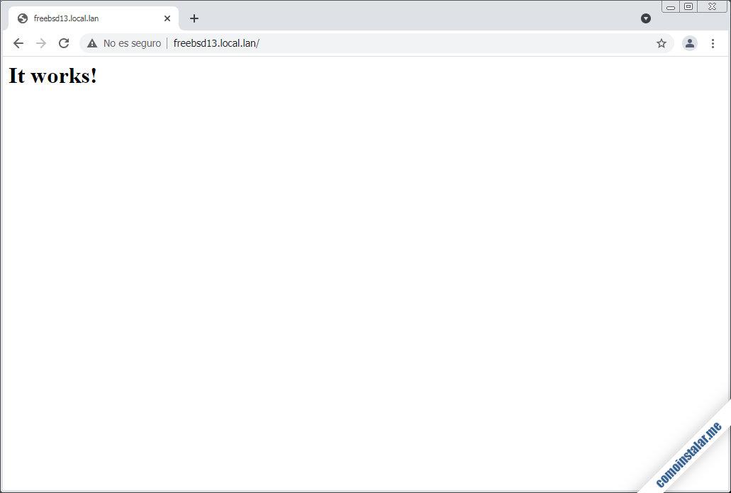 como instalar el servidor apache en freebsd 13