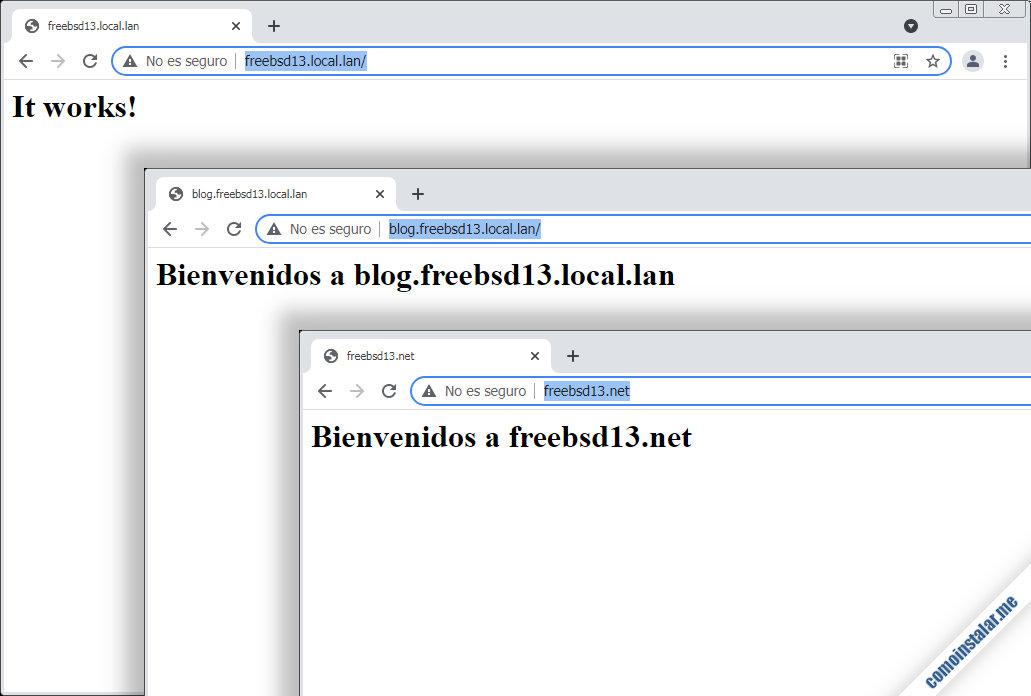 como configurar servidores virtuales de apache en freebsd 13