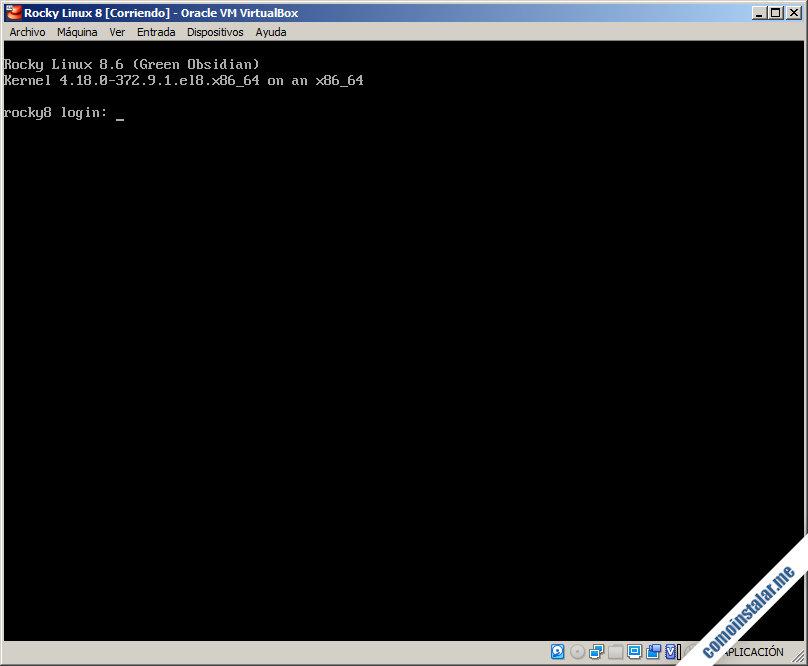 rocky linux 8 para virtualbox
