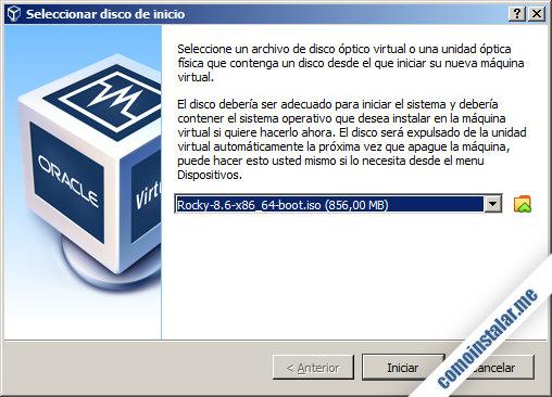 como instalar rocky linux 8 en virtualbox