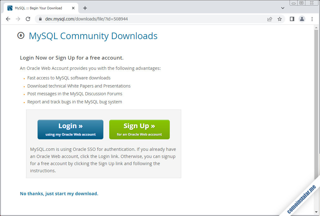 como descargar mysql server para rocky linux 8
