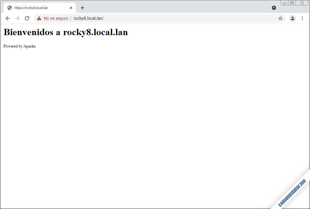 seguridad https ssl en apache para rocky linux 8