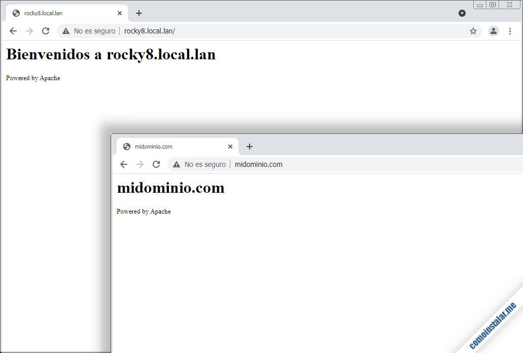 servidores virtuales de apache en rocky linux 8