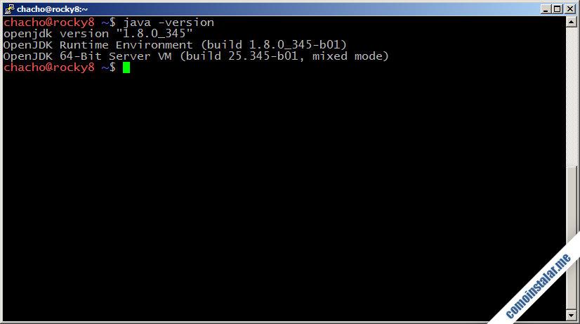 instalar y configurar java openjdk en rocky linux 8