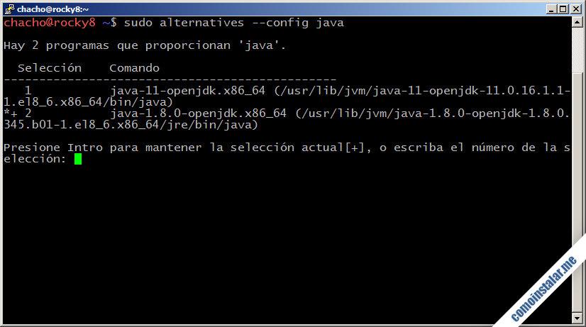 como configurar java openjdk en rocky linux 8