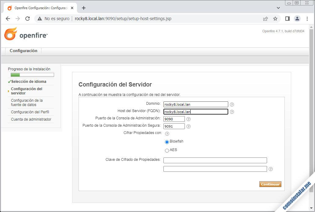 instalar y configurar openfire en rocky linux 8