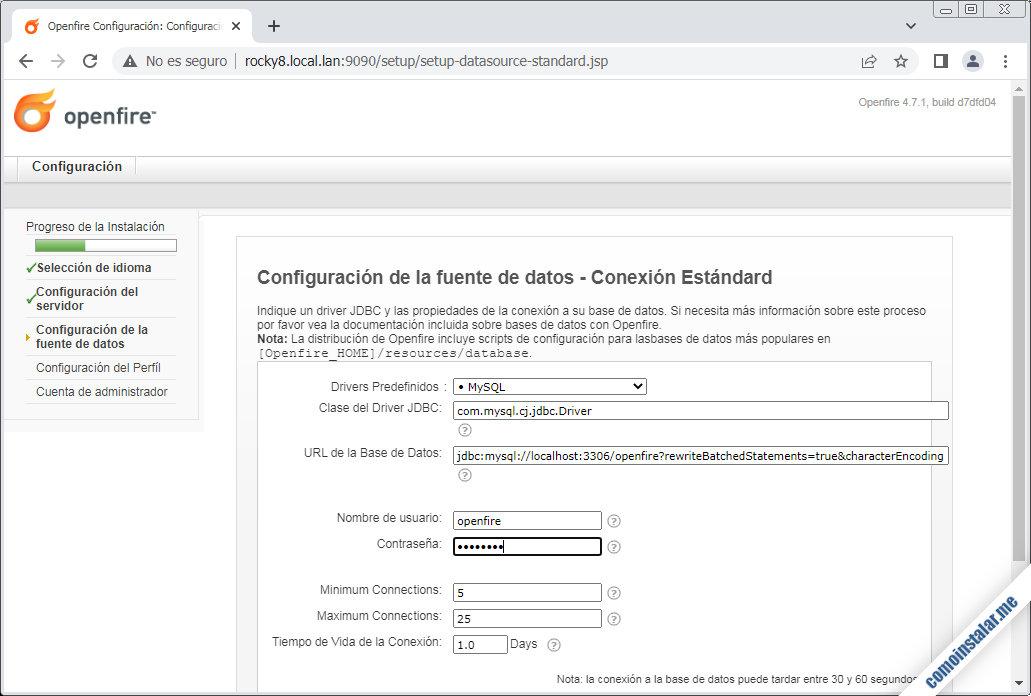 configuracion de openfire en rocky linux 8