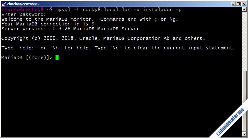 como configurar mariadb en rocky linux 8