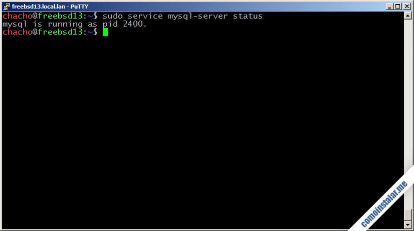 como instalar mysql server en freebsd 13