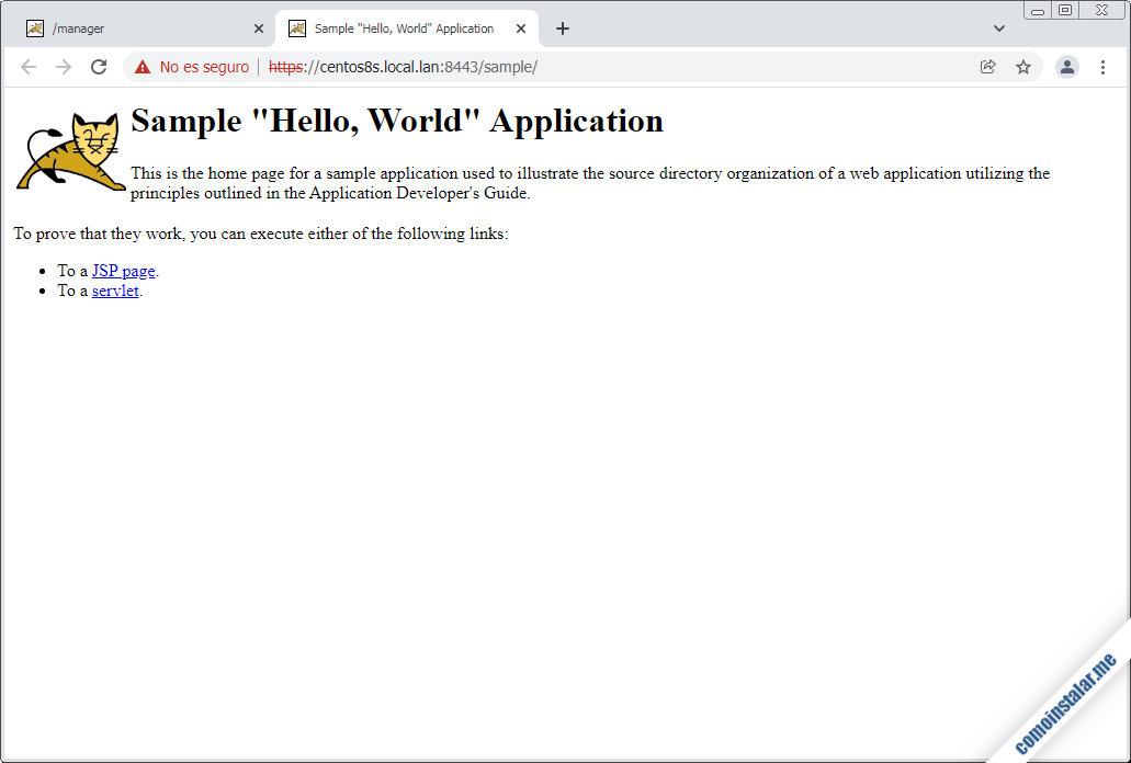 aplicaciones web para tomcat 10 en centos 8 / centos 8 stream
